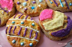 Easter Egg scones on Oh Cake blog