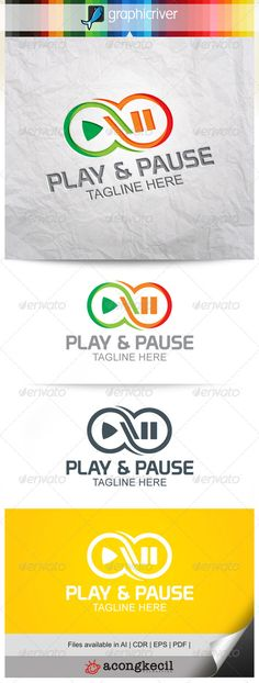 Play & Pause Logo Template  Suitable for : Company Logo, Business, Office, Studio, organization or your product name, etc.  Descr