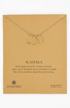Women's Dogeared 'Karma' Boxed Charm Necklace