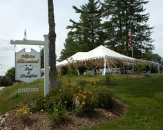 Wedding reception tent at The Alpine Homestead in the Adirondacks in upstate NY