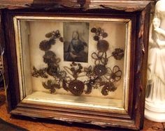 Victorian hair wreaths were created as a memorial using deceased family members' hair