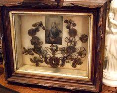 Victorian hair wreaths were created as a memorial using deceased family members' hair