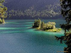 Germany: Eibsee Lake in Bavaria  6 of August 2012, «Der EIBSEE.» by Vladimir Hense