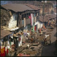 Photographic Print: Slum Housing in Calcutta, India Poster : India Poster, Framed Artwork, Wall Art, Phone Screen Wallpaper, Slums, Print Store, People Around The World, Aerial View, Art Reference