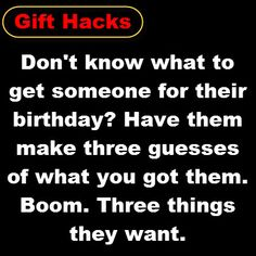 A #GiftTip from the pros...