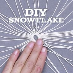 ❄️ DIY Snowflake EASY ❄️ baby teether classes adelaide 2020 designs macrame designs fashion designers home decor Diy Christmas Fireplace, Diy Christmas Snowflakes, Snowflake Craft, Christmas Diy, Snowflake Decorations, Crochet Snowflakes, Snowflake Designs, Snowflake Ornaments, Christmas Ornaments