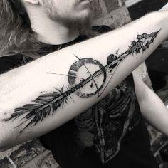 Stone Arrow Tattoo on Forearm - forearm tattoo arrow - Arrow Forearm Tattoo, Arrow Tattoos, Feather Tattoos, Forearm Tattoos, Body Art Tattoos, Sleeve Tattoos, Indian Arrow Tattoo, Tattos, Compass Tattoo Design