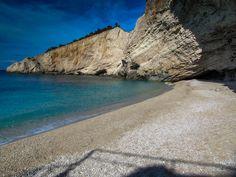 Porto Katsiki Beach Lefkada Greece - sea color.