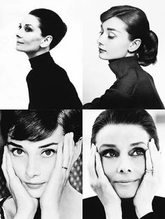 Audrey's face through the decades