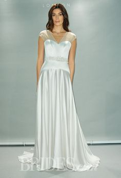 Suzanne Neville Wedding Dresses Fall 2014 Bridal Runway Shows | Wedding Dresses Style | Brides.com
