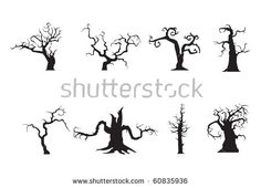 stock-vector-halloween-scary-trees-vector-60835936.jpg (450×325)