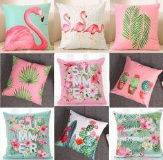 Now hot sale! Buy for USD Free worldwide shipping! Diy Pillows, Soft Pillows, Cushions, Throw Pillows, Flamingo Decor, Pink Flamingos, Pillow Covers, Tropical Bedrooms, Decor Pillows