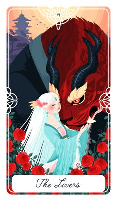 The Lovers, Another Fairytale/Tarot card. UPDATE: PRINTS OF ALL CARDS TO DATE…