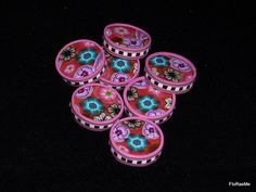 Polymer Clay wheels  by FloRaeMe, via Flickr
