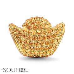 Soufeel Gold Plated Ingot Charm. To wish you joy at this holy season.Wishing every happiness will always be with you.