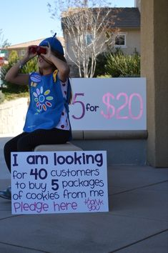 Clever Cookie ideas Girl Scout cookies. Great for booths!