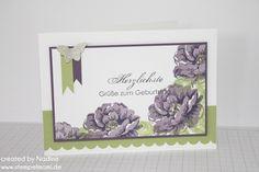Geburtstagskarte Birthday Card Stampin Up Stippled Blossoms