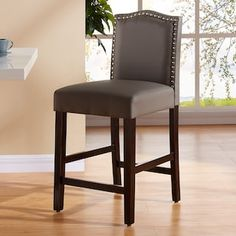 Dress up your breakfast nook with this refined Morgan counter stool. Dining Room Chair Cushions, Sofa Chair, Dining Chairs, Room Chairs, Kitchen Counter Chairs, Counter Height Chairs, Grey Bar Stools, Island Chairs, Pedicure Chairs For Sale