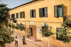 Building in Goree island Senegal