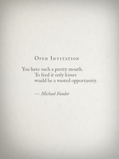 Open Invitation by Michael Faudet