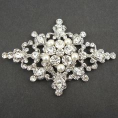 Vintage and Victorian pearl brooch