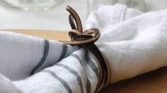 leather tie for cloth napkin