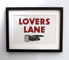 Lovers Lane Framed Picture.