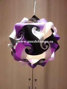 Wonderful Black/White/ Purple Puzzle Lamp From The Mesh Barn