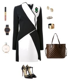 Getting business done by kruhdahian on Polyvore featuring polyvore, fashion, style, Thierry Mugler, Louis Vuitton, Marc Jacobs, Michael Kors, Armenta, Kate Spade, Marni, Chanel and clothing