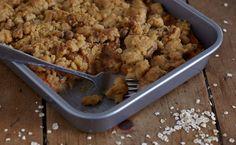 Havermoutcrumble met zoete aardappel