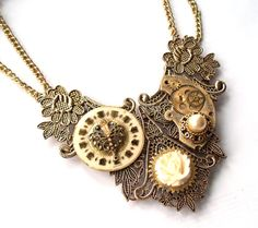 """One-of-a-kind Victorian Valentine Necklace """"True Love"""""""
