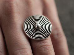 Spiral Sterling Silver Ring Fine silver by MarthaLjewellery