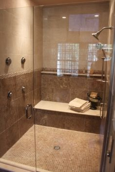 Walk in shower, Master bathrooms and Walk in on Pinterest