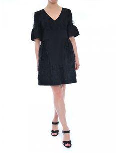 ABITO DONNA NERO CON DETTAGLIO MANICHE A CAMPANA LAUTRE CHOSE SS2017- Caneppele #trento #look #woman #black #dress #cerimonia #outfit
