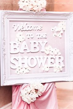 use white frame for welcome sign