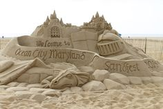 OC Sandfest is an event held at the end of August each year featuring giant sand sculptors along Ocean City's beautiful boardwalk.  Watch each day as champion sand cultors create masterpieces in the beach sand.