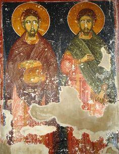 Illuminated Manuscript, Byzantine, Fresco, Mosaics, Ss, Painting, Wall, Fresh, Mosaic