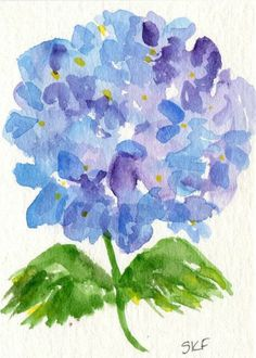 Hey, I found this really awesome Etsy listing at https://www.etsy.com/listing/185921757/purple-and-blue-hydrangeas-watercolor