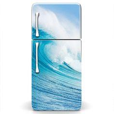 MagicSkins Fridge Wrap Refrigerator Vinyl Skin Door Decal sticker SURF WAVE