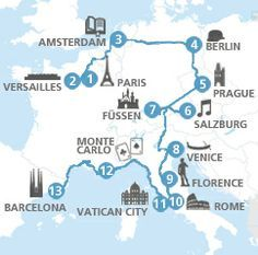 See Europe by train! Passes for most European countries and plan itineraries. So doing this for the next Europe trip!