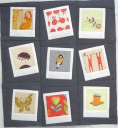 Tutorial Here:  http://my-crafty-crap.blogspot.com/2011/12/polaroid-quilt-block.html