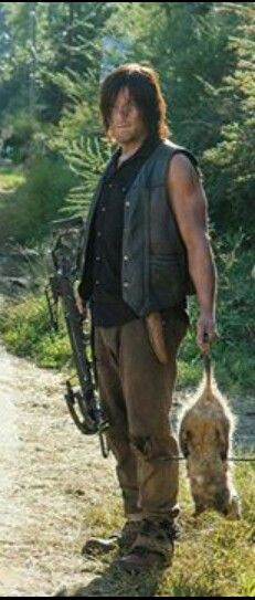 """Norman Reedus, """"We brought dinner"""", lol, one of the best lines ever!"""