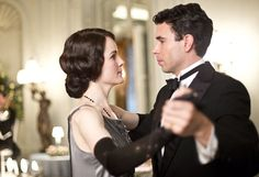 In love: Lady Mary, played by Michelle Dockery, with Viscount Gillingham, played by Tom Cullen