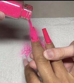 White Tip Acrylic Nails, Pink Acrylic Nail Designs, Long Square Acrylic Nails, Bling Acrylic Nails, Acrylic Nails Coffin Short, Acrylic Toes, Pink Acrylics, Coffin Nails, Neon Pink Nails