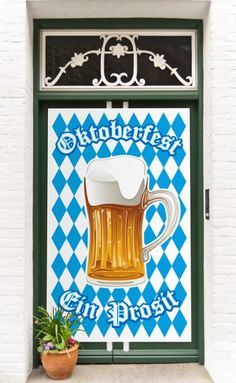 Deine Gäste finden dich sicher wenn Du Deine haustüre schon mit diesem Türposter dekorierst. Dein Oktoberfest kann beginnen.