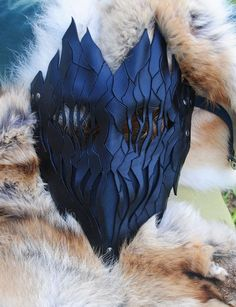 Onyx Leather Haunted Tree Ent Mask - Living Flame. By Epic Leather on etsy. $100