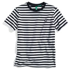 United Colors of Benetton Kids Stripe Short Sleeve T-Shirt (Toddler)... ($8.90) ❤ liked on Polyvore featuring tops, baby, baby boy, shirts, men and toddler boys