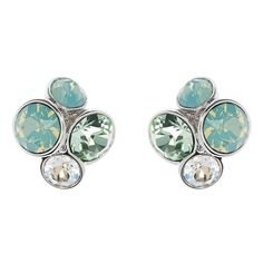Ted Baker London 'Lynda' Jewel Cluster Stud Earrings ($48) ❤ liked on Polyvore featuring jewelry, earrings, mint, rose gold tone earrings, mint jewelry, mint green jewelry, mint green earrings and stud earring set