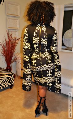 That Black Chic: Ankara Print Dress [Butterick with Bell Sleeves this time! African Print Dresses, African Wear, African Attire, African Women, African Dress, African Inspired Fashion, African Print Fashion, African Design, Fashion Line