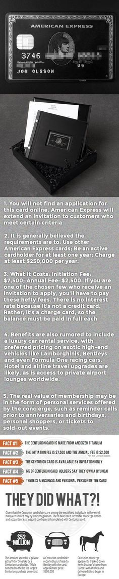 Here are some cool facts about the American Express Centurion black card.